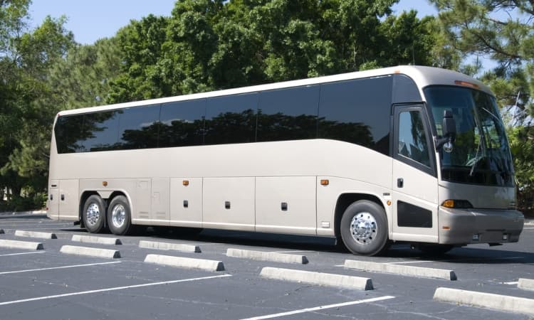 exterior image of a full-sized charter bus