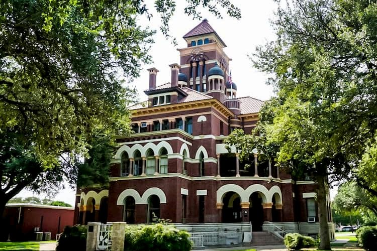 Historic courthouse in Gonzales