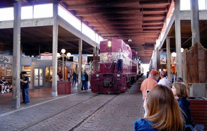 Grapevine Vintage Railroad in station