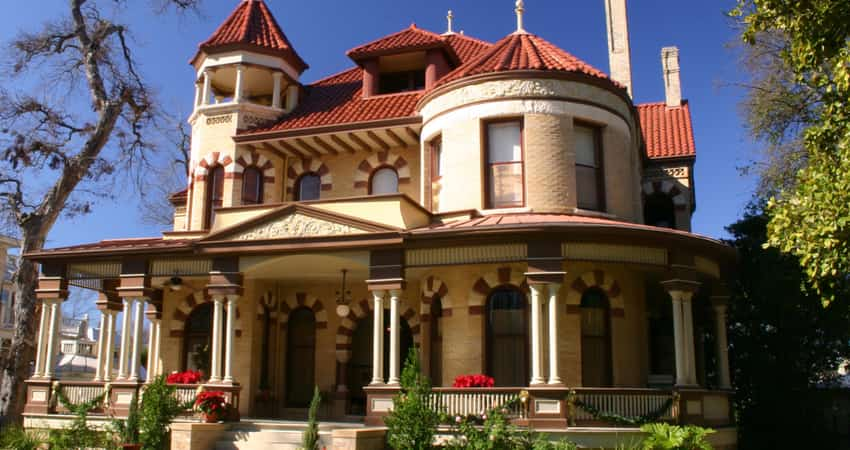 A Victorian home in the King William Historic District