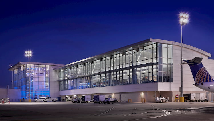 the exterior of george bush intercontinental airport