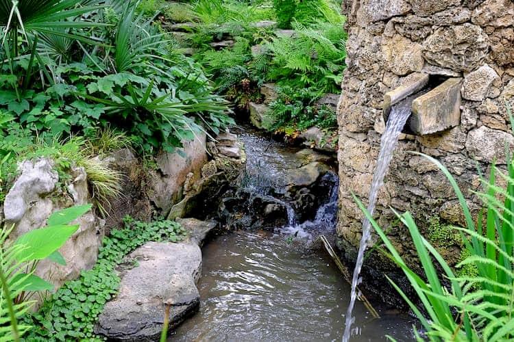 Small waterfall among rocks