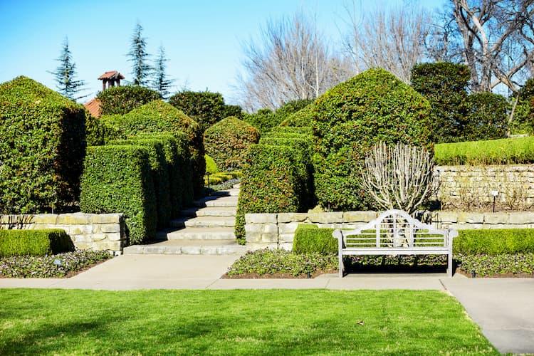 Sunken Garden at Dallas Arboretum