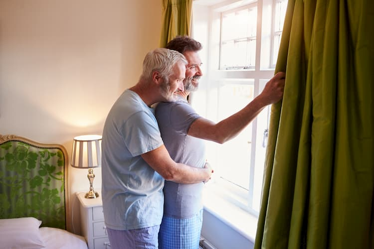 Older couple at hotel