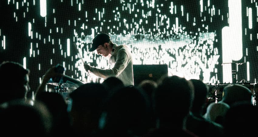 A tech and music performance at SXSW in Austin