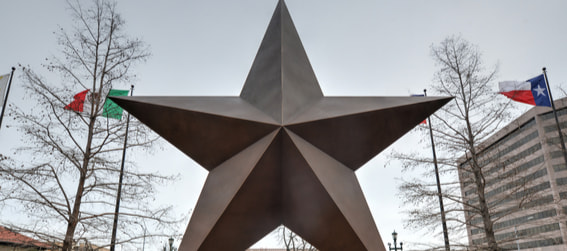 star statue outside Bullock Museum