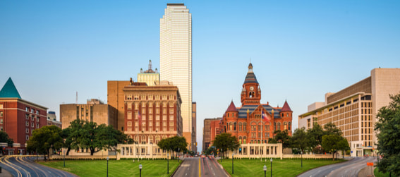skyline view of dealey plaza in dallas