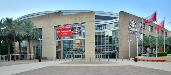 The Toyota Center in Houston